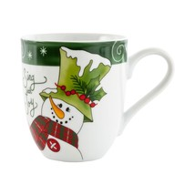 Holly Hat Snowman Collection, Holiday Mug, Sing with Joy - $23.66