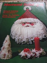 Macrame Book MM321 Holiday II Macrame Christmas Patterns Tree Santa Ornament Etc - $9.89