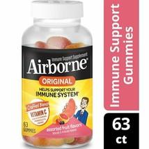 Airborne Vitamin C 750 mg  Assorted Fruit Flavors Immune Support 63 Gumm... - $28.70