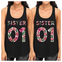 Sister 01 BFF Matching Black Tank Tops - $30.99+