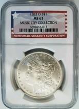 1883 O Silver Morgan Dollar NGC MS 63 Music City Collection Hoard Pedigr... - $106.25