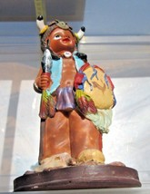 "native american Girl  figurine 6"" tall ceramic decorative collectible VTG - $13.89"
