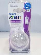 Pack of 4 Philips Avent Natural 2 Medium Flow Nipples 3m+ - $19.05