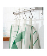 KITCHEN DISH TOWELS Set of 4 White Green Cotton ELLY Tea Towel - $11.99