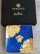 Rosenthal Versace Bowl Square Flat Medusa Rhapsody Blue - $75.00