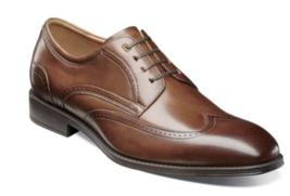Florsheim Mens Shoes Amelio Oxford Cognac Wingtip 14242-221 - $109.99