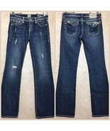Anoname Size 29 Womens Jeans Distressed Joelle Boot Flap Pockets - $38.22
