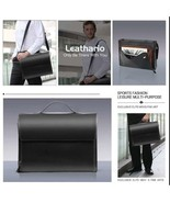 Leathario Bag Leather Briefcase Laptop Fashion for Man Designed for Busi... - $415.83