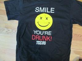 Smile Your Drunk Vegas T Shirt Size M - $1.99