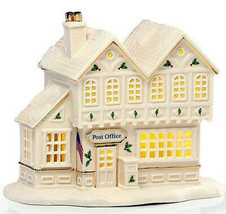 Lenox Christmas Village Post Office Lighted LED Building New In Box - $65.90