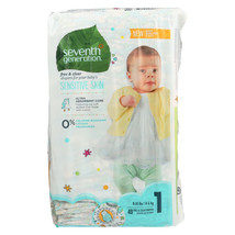 Seventh Generation Free and Clear Baby Diapers - Stage 1 - Case of 4 - 4... - $87.28