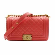 Chanel Pink Medium Caviar Calf Skin Gold Tone Hardware Quilted Boy Bag A... - $4,699.00