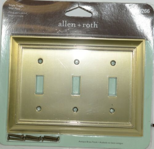 Allen Roth Cosgrove 0140266 Triple Toggle Wall Plate with Mounting Hardware Pkg1