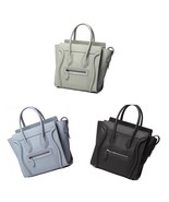Pebbled Italian Leather Fashion Wing Satchel Handbag Shoulder Bag Purse - $149.95