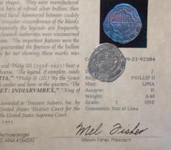 ATOCHA MEL FISHER LIMA PERU 2 REALES 1598-1621 PIRATE GOLD COINS SILVER COB - $8,450.00