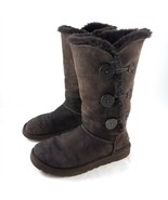 UGG Australia Brown Triple Button Shearling Suede Snow Boots Womens 8 # ... - £28.72 GBP