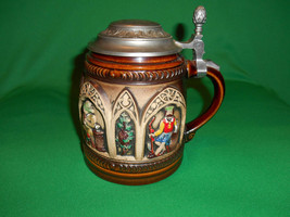 "6"" Tall, Pewter Lidded, Beer Stein by Beyer. Impressed W. Germany, Hald... - $29.99"