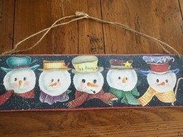 Snowman hanging Plaque Sign Holiday Christmas Farm House NEW - $7.84