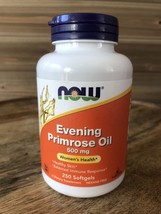 NOW Foods Evening Primrose Oil - 500mg - 250 Softgels Exp 4/22 - $18.22