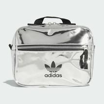 Adidas Originals Fashion  Silver Metallic Mini Airliner Backpack ED5881 - $79.17