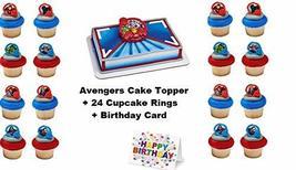 Avengers Superheroes Cake Topper Set Cupcake 24 Pieces Birthday Supplies... - $21.73