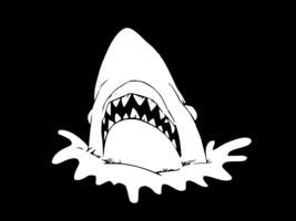 SHARK GREAT WHITE JAWS Vinyl Decal Car Window Wall Sticker CHOOSE SIZE C... - $2.65+