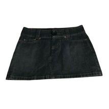 Rampage Clothing Company Women's Mini Skirt Dark Wash Blue Denim A-Line ... - $19.78