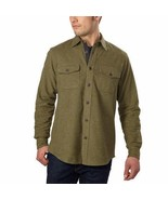 Grizzly Mountain Mens Shirt River Green Flannel Chamois Long Sleeves Soft - $42.99+