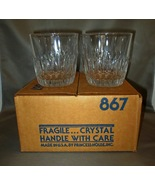 Princess House Highlights Lead Crystal 4 Old Fashioned Glasses 867 NIB - $7.49