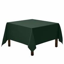 Gee Di Moda Square Tablecloth - 85 x 85 Inch - (85x85|Hunter Green Table... - $26.96