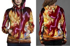 Goku Vs Bejita Women's Zipper Hoodie - $49.80+