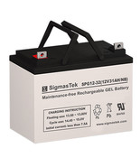 SigmasTek SPG12-32 GEL Battery 12V 32AH Battery - $74.05