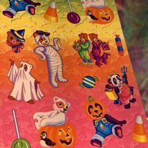 VINTAGE LISA FRANK Halloween Hip Hop Panda Bear Mint Complete Sticker Sheet S317 image 3
