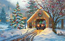 Chirstmas Crossing 550 Piece Jigsaw Puzzle by SunsOut - $14.94