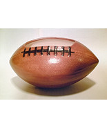 MAN CAVE FOOTBALL SNACK BOWL Candy Dips Edible Sport Server! Pottery Flo... - $10.99