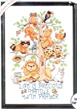 Bucilla Life is Precious Animal Tree Cross Stitch Kit 33325 Frame Linda Gillum - $17.95