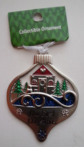 Our First Christmas Ganz Traditional Christmas Ornament House Pond Lake Sea - $5.93