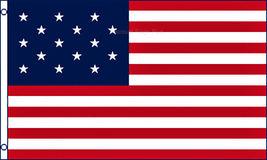 3x5 15 Stars Star Spangled Banner Historical Flag Polyester America Usa - $16.00