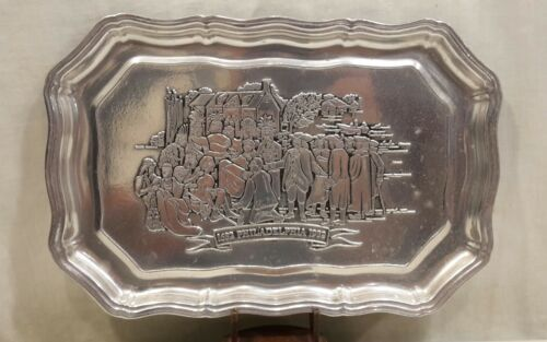 "Primary image for WILTON ARMETALE Platter Oblong Metal Serving Tray 1682 Philadelphia 13"" x 8 3/4"""