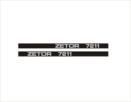 ZETOR 7211 - Tractor decal set, reproduction - $27.00