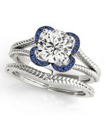14k White Gold Finish 925 Solid Silver Womens Wedding Bridal Diamond Rin... - $92.99