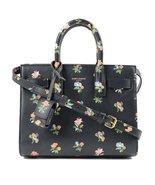 Saint Laurent Women's Black Floral Mini Sac de Jour Handbag 398711 - $2,850.00