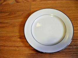 Noritake Derry White w Silver rim Salad Plate  Lot of 6 - $37.04