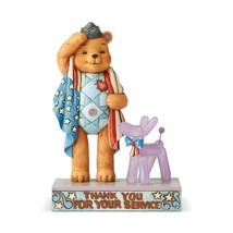 Jim Shore Patriotic Button and Squeaky Polyresin Figurine 6005123 - $39.55