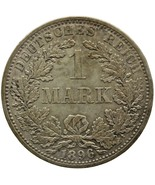 1896 A One Mark Germany Wilhelm II Coin Silver (type 2 - small shield) B... - $17.00
