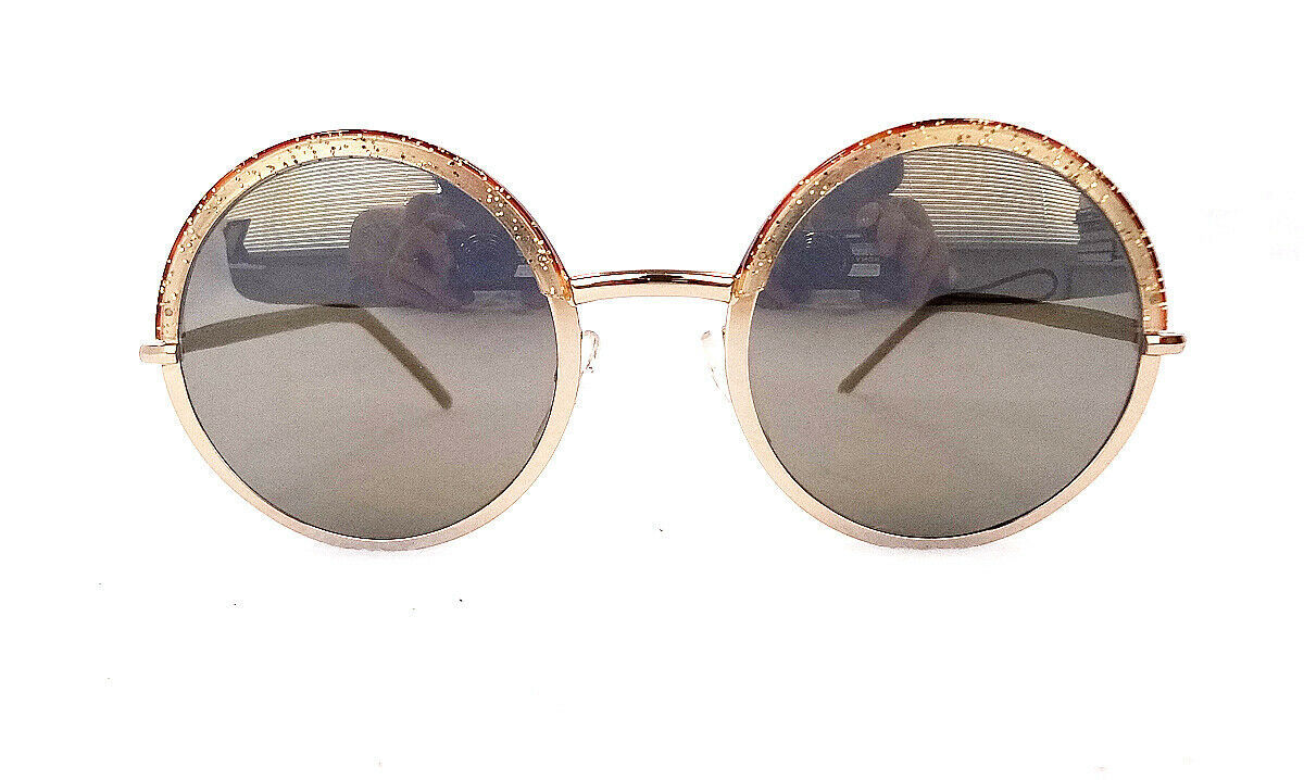 Cutler & Gross Women's Sunglasses 1070-CPGN Champagne Metal/Leather ITALY - New!