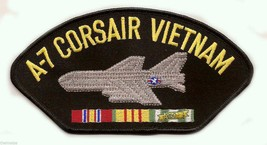 "A-7 CORSAIR  VIETNAM VETERAN EMBROIDERED 6"" MILITARY SERVICE RIBBON  PATCH - $15.33"