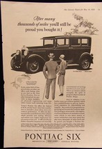 1928 Literary Digest Magazine Ad For Pontiac Six - $5.93