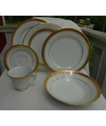 27 p NORITAKE MAJESTIC GOLD DINNERWARE PLATE 4290 DINNER SOUP BOWL GRAVY... - £219.34 GBP