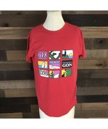 Vintage State Of Oregon Red Champion Singlestich T Shirt Adult Large - $23.38